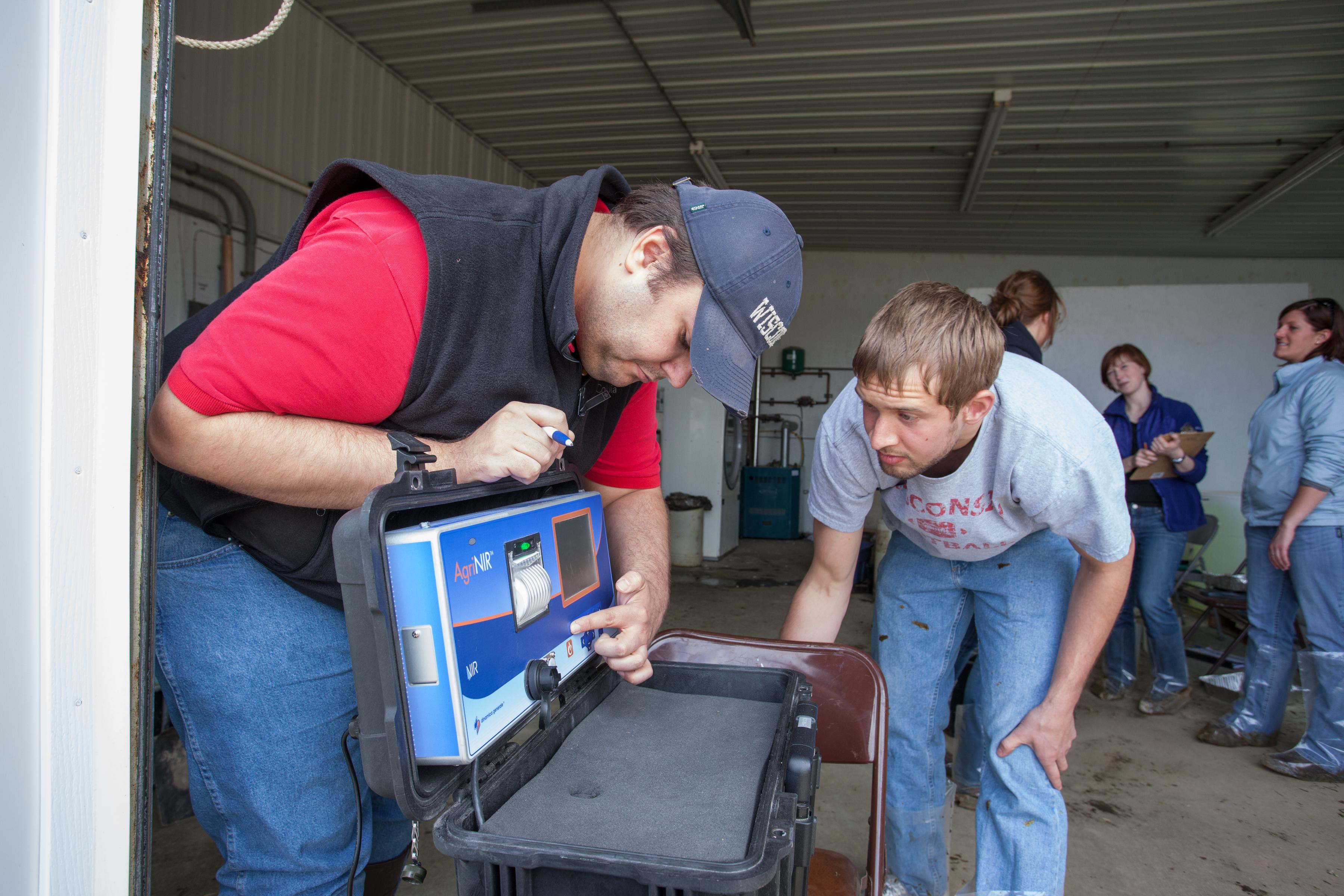 Dairy Science student field trip 04-22-2013, SunBurst Dairy, Belleville, WI