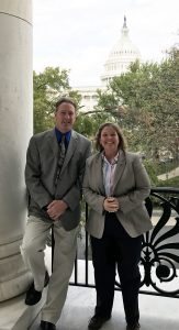 Dr. Kent Weigel and Dr. Penny Riggs in Washington DC for their presentation at the nation's Capitol.