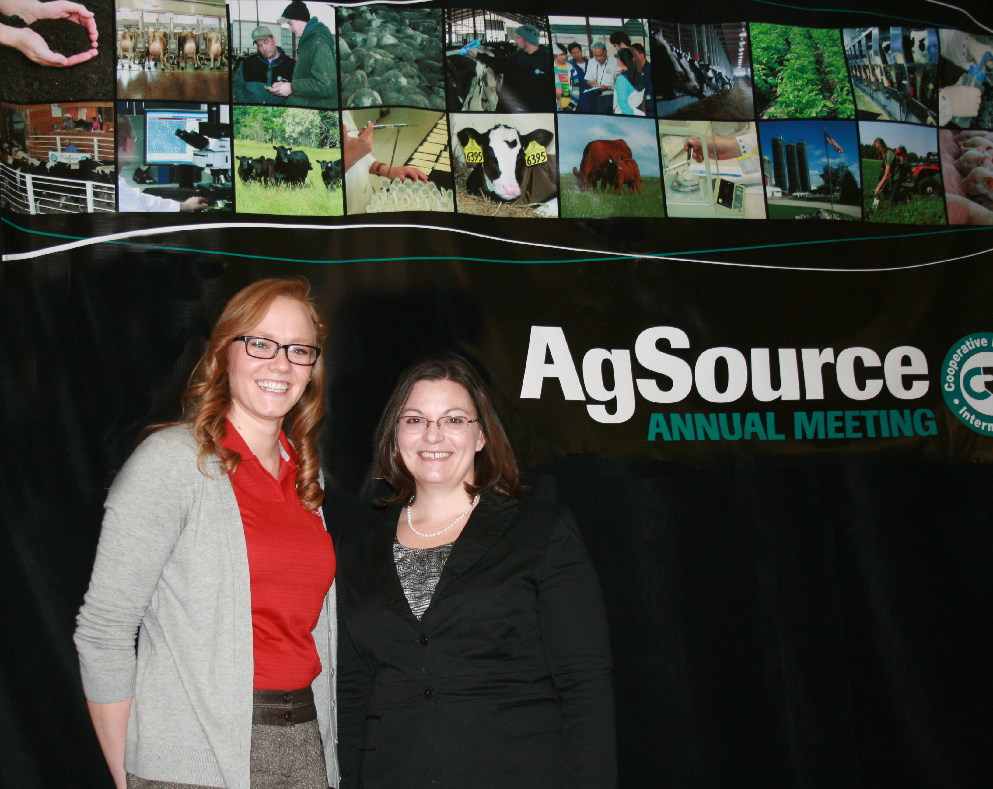 Tawny Chandler and Dr. Heather White of the Department of Dairy Science