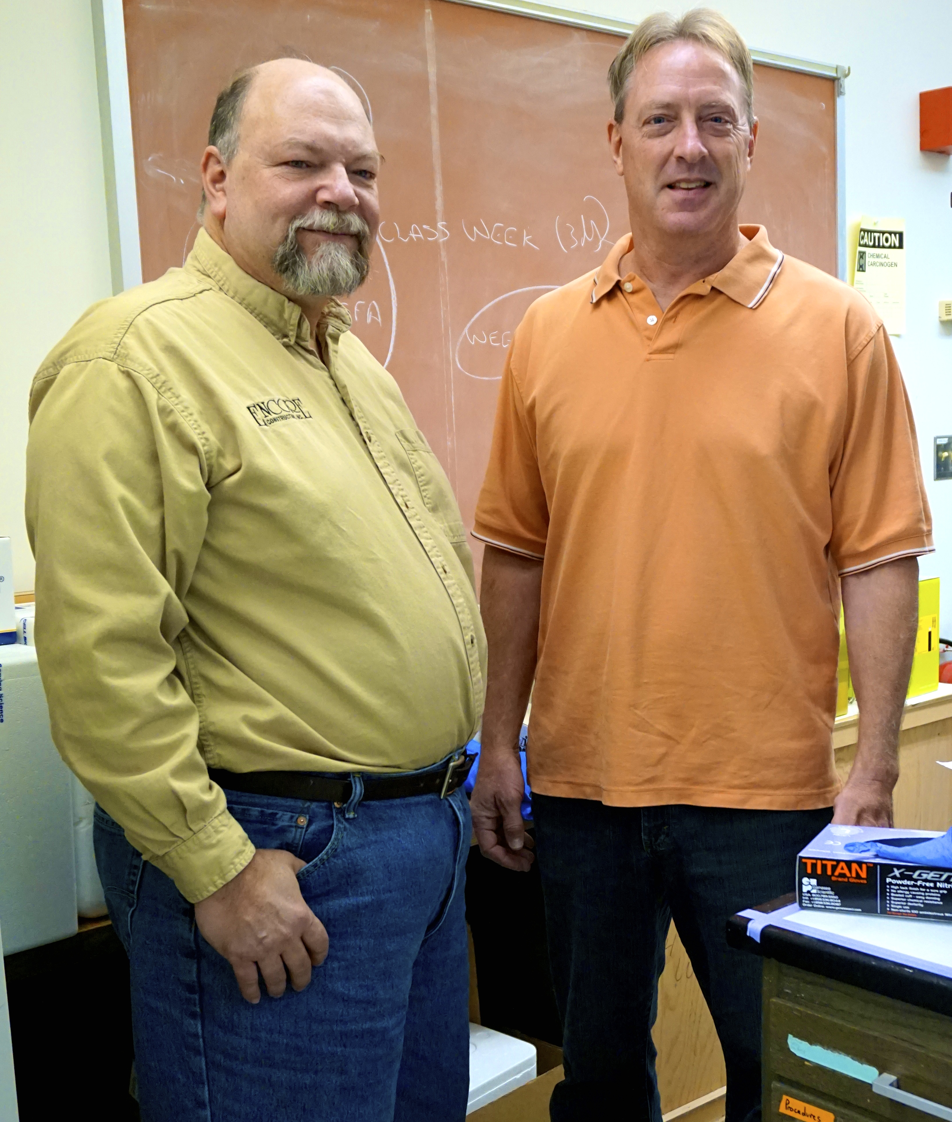 (Left to right) Dr. Lou Armentano and Dr. Kent Weigel